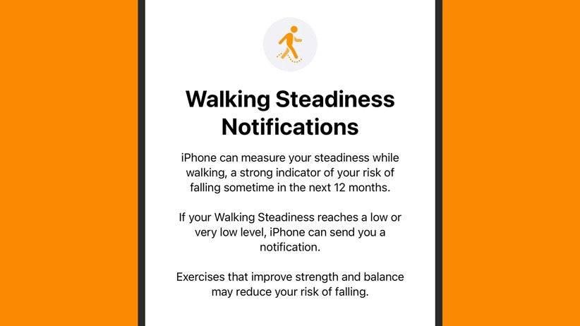 بررسی ثبات راه رفتن iOS 15